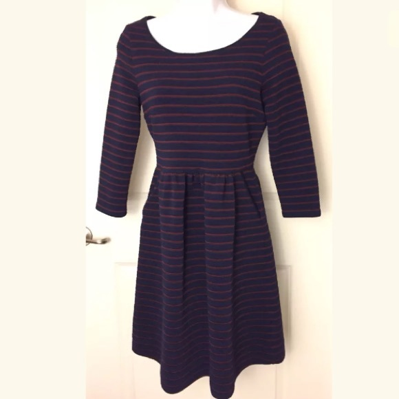 9846f3c1cd45d Anthropologie Dresses & Skirts - Anthropologie Maeve Navy Striped Brenna  Dress